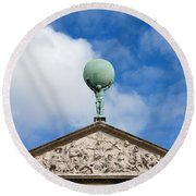Royal Palace In Amsterdam Architectural Details Round Beach Towel