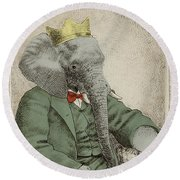 Royal Portrait Round Beach Towel by Eric Fan