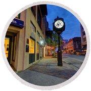 Royal Street Clock Round Beach Towel