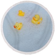 Rubber Ducks Round Beach Towel