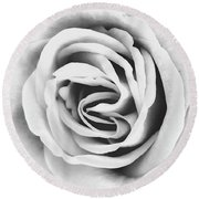 Rubellite Rose Bw Palm Springs Round Beach Towel