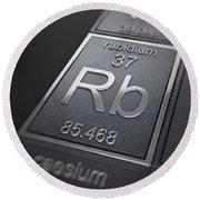 Rubidium Chemical Element Round Beach Towel