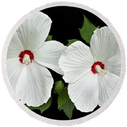 Ruby Dot Hibiscus Round Beach Towel
