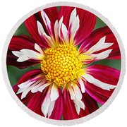 Ruby Glow Round Beach Towel