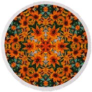 Rudi 2 Kaleidoscope Round Beach Towel