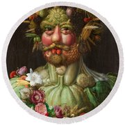 Rudolf II Of Habsburg As Vertumnus Round Beach Towel