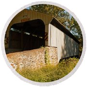 Rudolph Arthur Covered Bridge Round Beach Towel