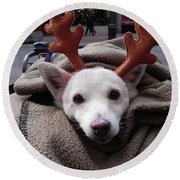 Rudolph Round Beach Towel
