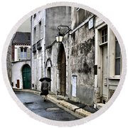 Rue A Chartres Round Beach Towel