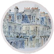 Rue Du Rivoli Paris Round Beach Towel