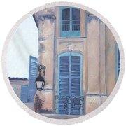 Rue Espariat Aix-en-provence Round Beach Towel