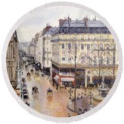Rue Saint Honore Afternoon Rain Effect Round Beach Towel