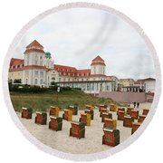 Ruegen Island Beach - Germany Round Beach Towel