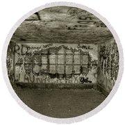 Ruined Bunker Round Beach Towel