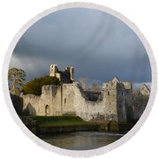 Ruins Of Desmond Castle Round Beach Towel