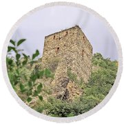Ruins Of Durnstein Round Beach Towel