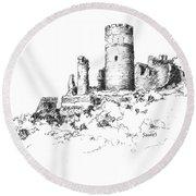 Ruins Of Furstenburg Castle Round Beach Towel
