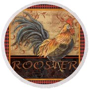 Ruler Of The Roost-1 Round Beach Towel