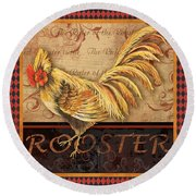 Ruler Of The Roost-2 Round Beach Towel