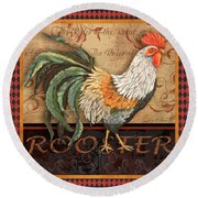 Ruler Of The Roost-3 Round Beach Towel