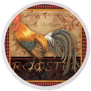 Ruler Of The Roost-4 Round Beach Towel