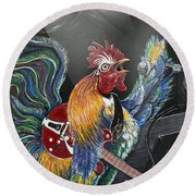 Rulin' The Roost Round Beach Towel