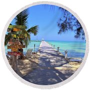 Rum Point Round Beach Towel