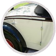 1934 Bruster Rumble Seat Access Round Beach Towel