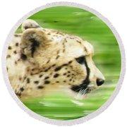 Run Cheetah Run Round Beach Towel