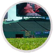 Run To Home Base 2012 Round Beach Towel