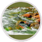 Running River Round Beach Towel
