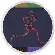 Running Runner Round Beach Towel