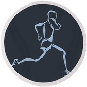 Running Runner12 Round Beach Towel