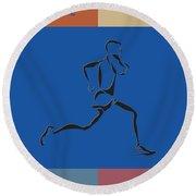 Running Runner2 Round Beach Towel
