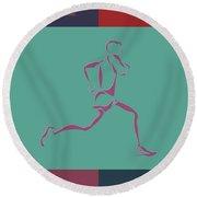 Running Runner3 Round Beach Towel