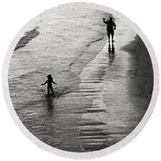 Running Wild Running Free Round Beach Towel by Edward Fielding