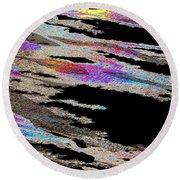 Runnoff Rainbows Round Beach Towel