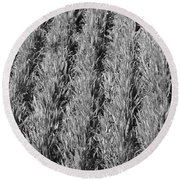 Rural America Black And White Round Beach Towel
