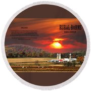 Rural Barns  My Book Cover Round Beach Towel