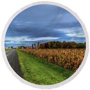 Rural Drama.. Round Beach Towel