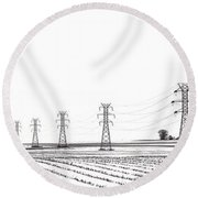 Rural Power Round Beach Towel