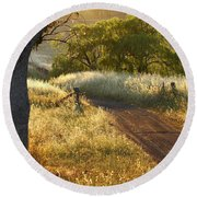 Rural Road 2am-009691 Round Beach Towel
