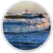 Rush Hour On Cape Cod Round Beach Towel