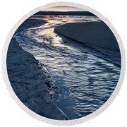 Rush To The Sun Round Beach Towel