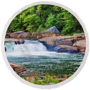 Rushing Water Round Beach Towel