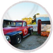 Russel Farms 1951 Ford F100 Round Beach Towel