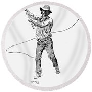 Russell Bull Whacker Round Beach Towel