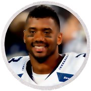 Russell Wilson Quote Round Beach Towel