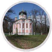 Russian Church Round Beach Towel