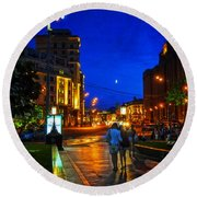 Russian Evening Round Beach Towel